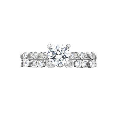Tacori 201-2RD65 Platinum Round Classic Engagement Ring set