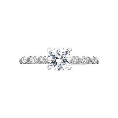 Tacori 201-2RD65 Sculpted Crescent Platinum Round Engagement Ring