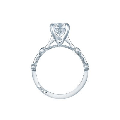Tacori 202-2PR White Gold Princess Cut Engagement Ring side