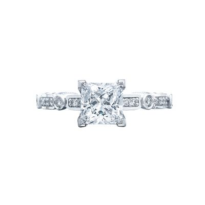 Tacori 202-2PR5 Sculpted Crescent Platinum Princess Cut Engagement Ring