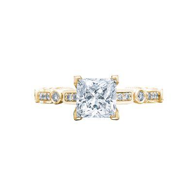 Tacori 202-2PR5-Y Sculpted Crescent Yellow Gold Princess Cut Engagement Ring