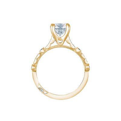Tacori 202-2PR5-Y Yellow Gold Princess Cut Engagement Ring side