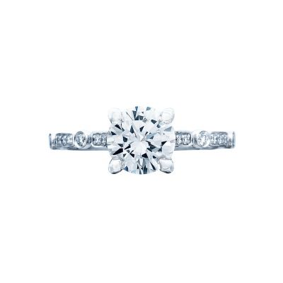 Tacori 202-2RD Sculpted Crescent White Gold Round Engagement Ring