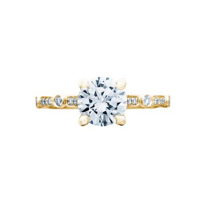 Tacori 202-2RD6Y Sculpted Crescent Yellow Gold Round Engagement Ring