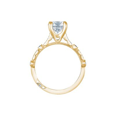 Tacori 202-2RD6Y Yellow Gold Round Engagement Ring side