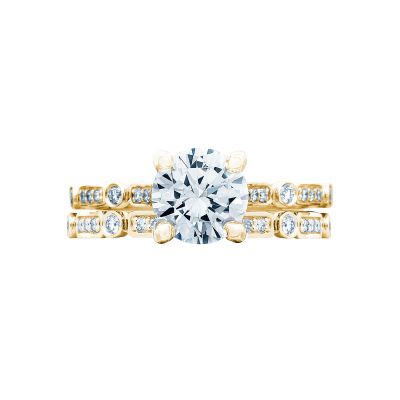 Tacori 202-2RD6Y Yellow Gold Round Unique Gold Engagement Ring set