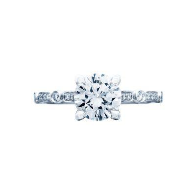 Tacori 202-2RD7 Sculpted Crescent Platinum Round Engagement Ring