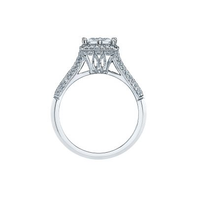 Tacori 2502PRP White Gold Princess Cut Engagement Ring side