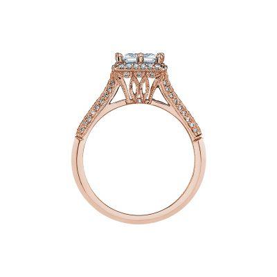 Tacori 2502PRP6-PK Rose Gold Princess Cut Engagement Ring side