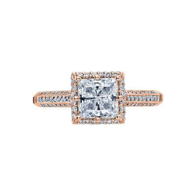 Tacori 2502PRP6-PK Simply Tacori Rose Gold Princess Cut Engagement Ring
