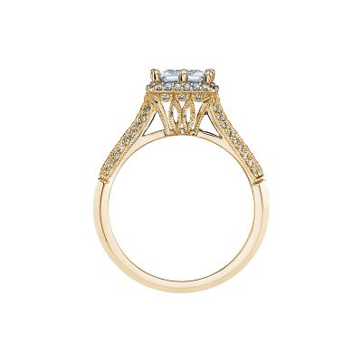 Tacori 2502PRP6-Y Yellow Gold Princess Cut Engagement Ring side
