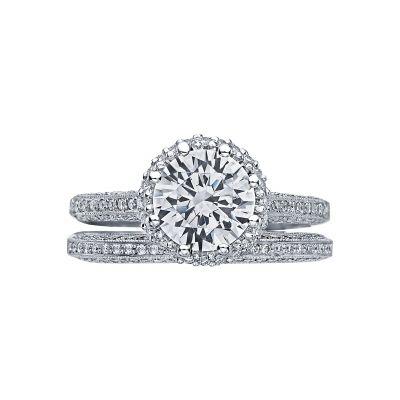 Tacori 2502RDP White Gold Round Beautiful Halo Engagement Ring set