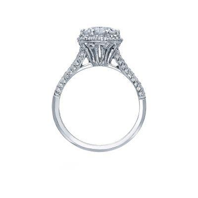 Tacori 2502RDP White Gold Round Engagement Ring side