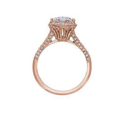Tacori 2502RDP75-PK Rose Gold Round Engagement Ring side