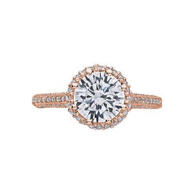 Tacori 2502RDP75-PK Simply Tacori Rose Gold Round Engagement Ring
