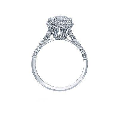 Tacori 2502RDP75 Platinum Round Engagement Ring side