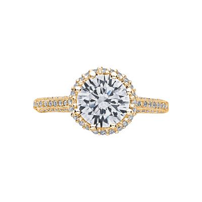 Tacori 2502RDP75-Y Simply Tacori Yellow Gold Round Engagement Ring