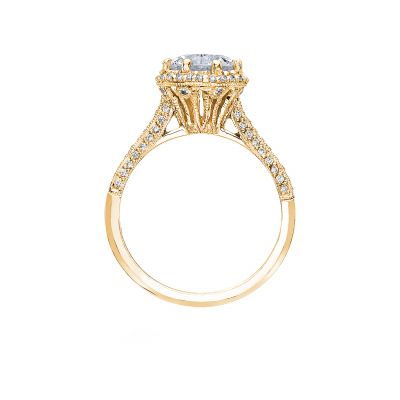 Tacori 2502RDP75-Y Yellow Gold Round Engagement Ring side