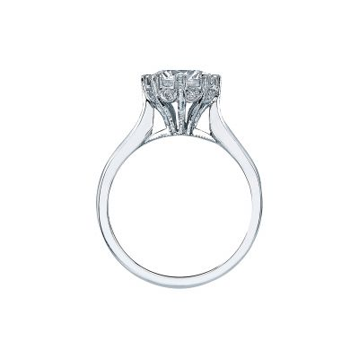 Tacori 2503RD White Gold Round Engagement Ring side