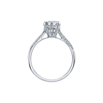 Tacori 2504EMP White Gold Emerald Cut Engagement Ring side
