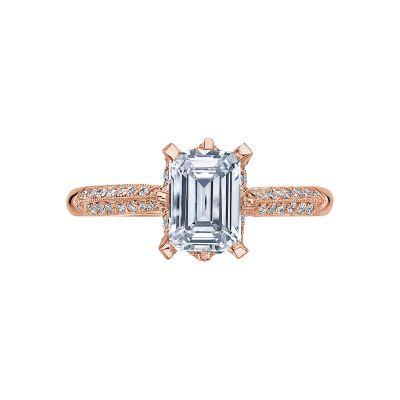 Tacori 2504EMP7X5-PK Simply Tacori Rose Gold Emerald Cut Engagement Ring