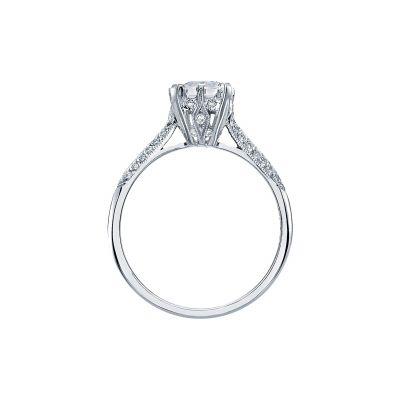 Tacori 2504EMP7X5 Platinum Emerald Cut Engagement Ring side