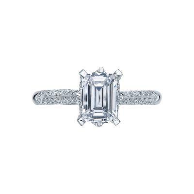 Tacori 2504EMP7X5 Simply Tacori Platinum Emerald Cut Engagement Ring