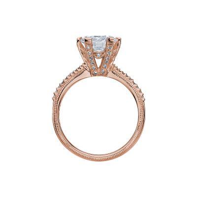 Tacori 2507RD8-PK Rose Gold Round Engagement Ring side