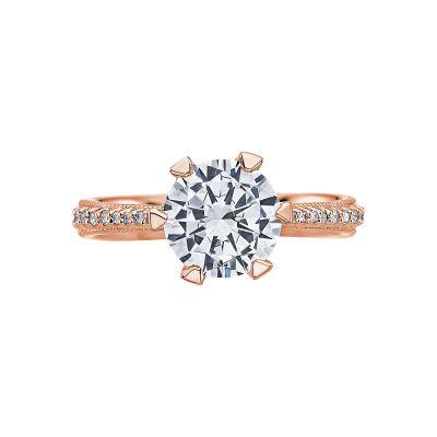 Tacori 2507RD8-PK Simply Tacori Rose Gold Round Engagement Ring