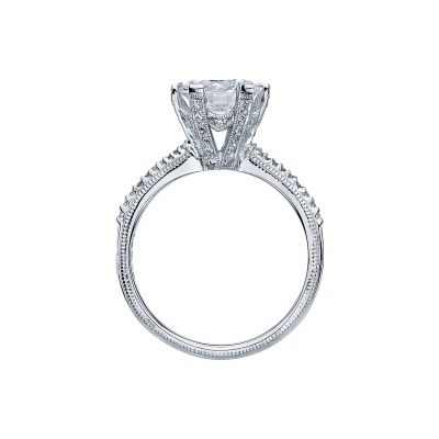 Tacori 2507RD8 Platinum Round Engagement Ring side