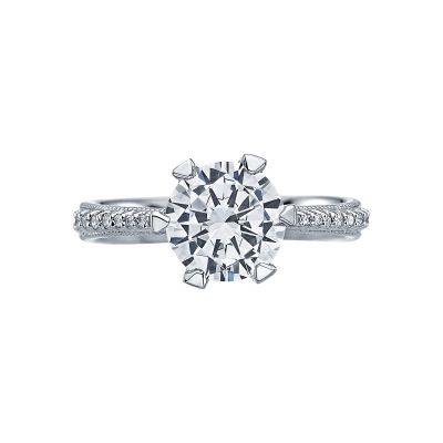 Tacori 2507RD8 Simply Tacori Platinum Round Engagement Ring