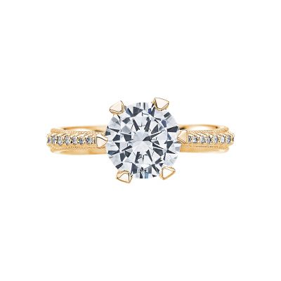 Tacori 2507RD8-Y Simply Tacori Yellow Gold Round Engagement Ring