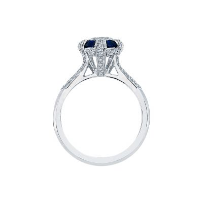 Tacori 2518RD White Gold Round Engagement Ring side