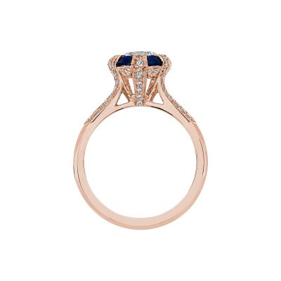 Tacori 2518RD65-PK Rose Gold Round Engagement Ring side