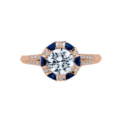 Tacori 2518RD65-PK Simply Tacori Rose Gold Round Engagement Ring