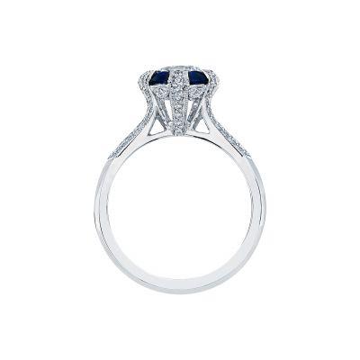 Tacori 2518RD65 Platinum Round Engagement Ring side