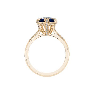 Tacori 2518RD65-Y Yellow Gold Round Engagement Ring side