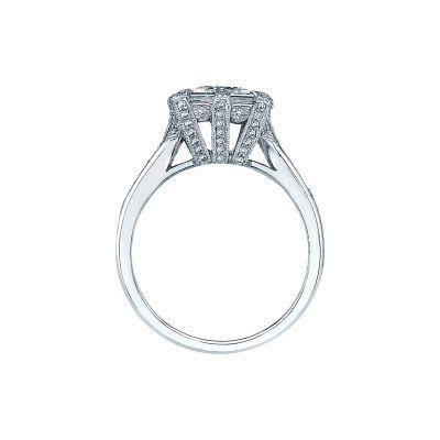 Tacori 2525PR White Gold Princess Cut Engagement Ring side