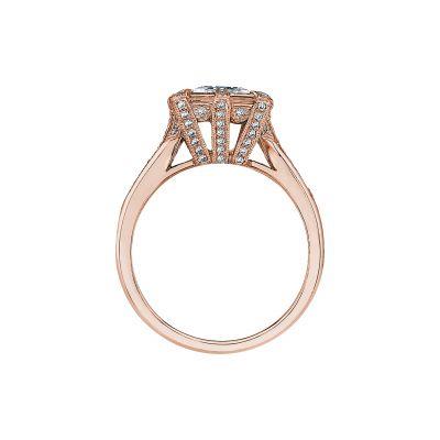 Tacori 2525PR65-PK Rose Gold Princess Cut Engagement Ring side