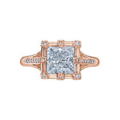 Tacori 2525PR65-PK Simply Tacori Rose Gold Princess Cut Engagement Ring