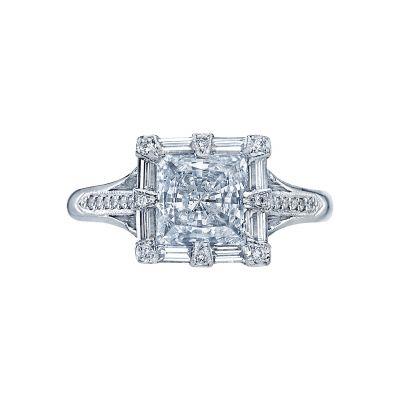 Tacori 2525PR65 Simply Tacori Platinum Princess Cut Engagement Ring