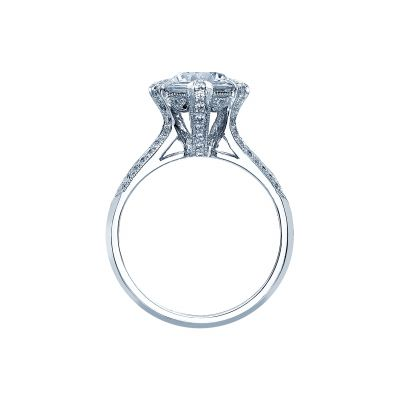 Tacori 2525RD White Gold Round Engagement Ring side