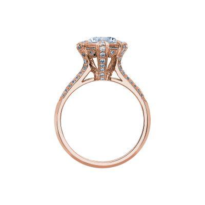 Tacori 2525RD7-PK Rose Gold Round Engagement Ring side