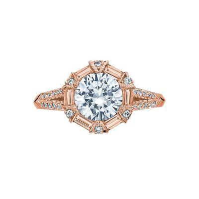 Tacori 2525RD7-PK Simply Tacori Rose Gold Round Engagement Ring