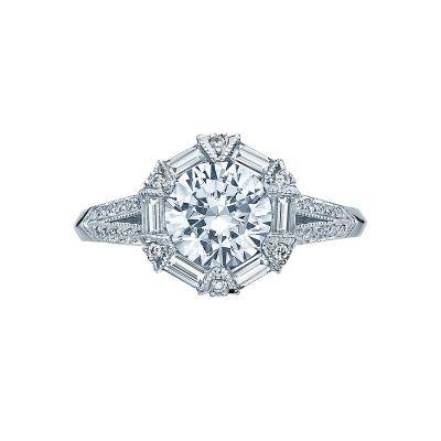 Tacori 2525RD7 Simply Tacori Platinum Round Engagement Ring