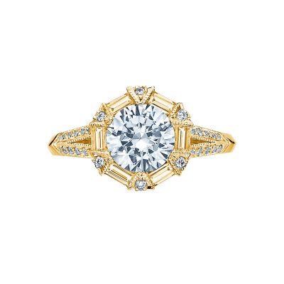 Tacori 2525RD7-Y Simply Tacori Yellow Gold Round Engagement Ring
