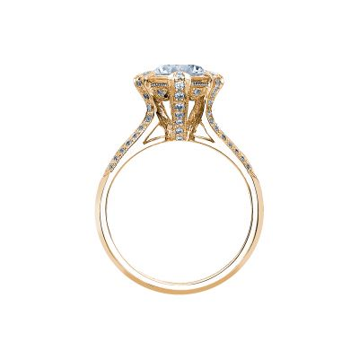 Tacori 2525RD7-Y Yellow Gold Round Engagement Ring side