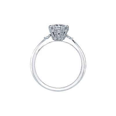 Tacori 2535RD White Gold Round Engagement Ring side
