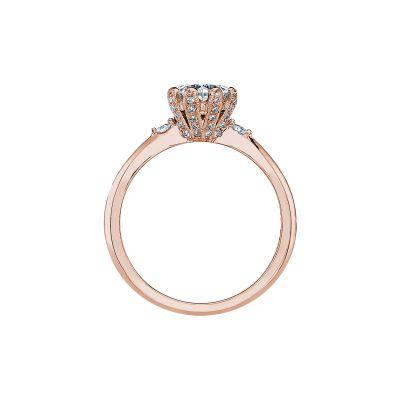 Tacori 2535RD65-PK Rose Gold Round Engagement Ring side