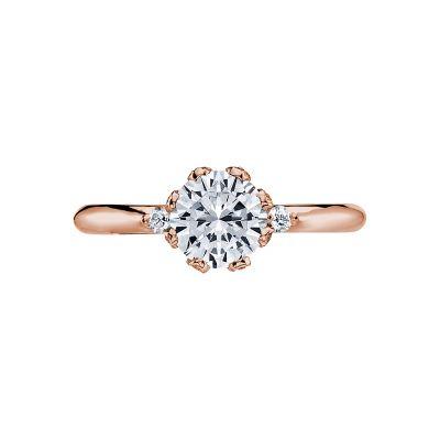 Tacori 2535RD65-PK Simply Tacori Rose Gold Round Engagement Ring